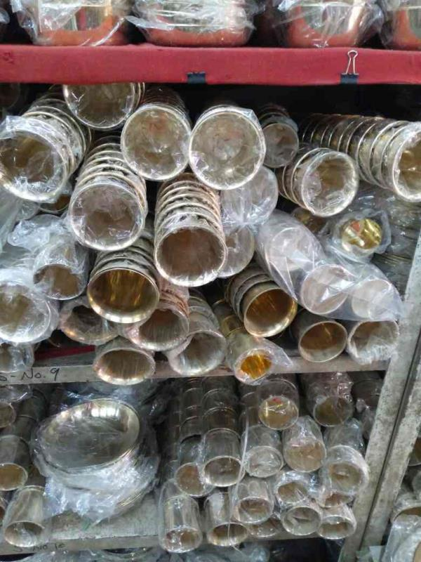 copper glasses at competitive rate in manekchok. - by Shree Metal Udhyog, Ahmedabad