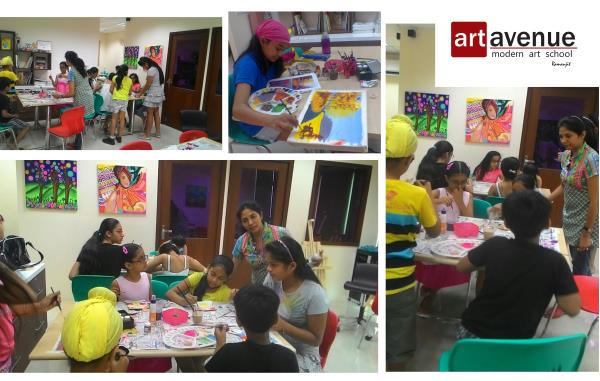 Drawing and painting classes in Delhi (model town ) canvas painting classes  summer camp  - by ART AVENUE SCHOOL-7838963879, Delhi