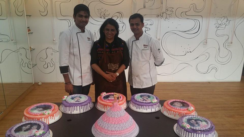 so Nims received an order for baby trishala and her moms Birthday Cakes that was a whooping 27 kgs for almost 1500 people...now that's how a Double Celebration is done! the team at nims was extremely delighted to have been a part of their j - by Nim's Cake & Craft, Pune