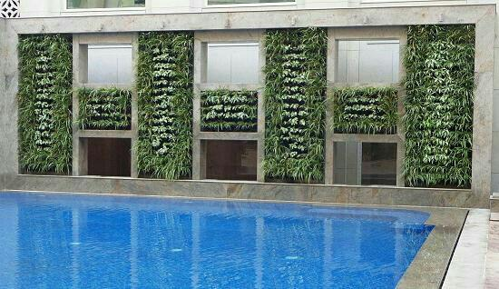 Vertical Green Wall planting Pallate The planting scheme for the vertical wall has been devised after careful consideration of various plants which could survive indoors while giving a lush luxurious look to the green wall. The placement of - by Vertical Garden Manufacturer, New Delhi