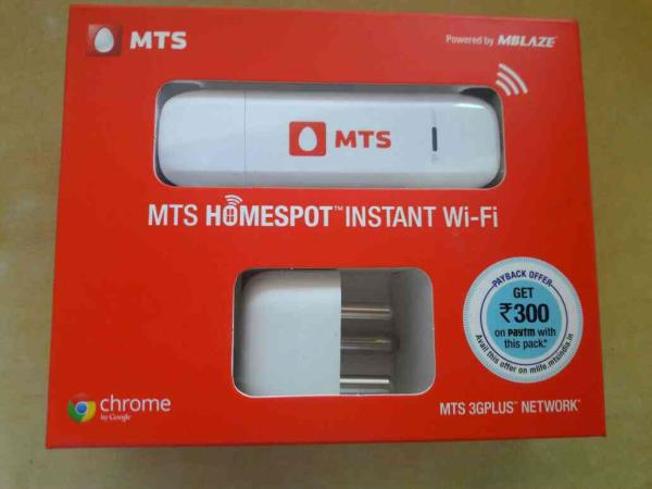 MTS WIFI DATA CARD Rs.1750 12 gb free 60 day - by ZPlus Mobile Shop, Surat