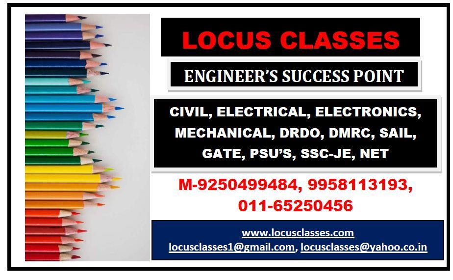 ssc je coaching in delhi  best ssc je coaching in delhi locus classes. join for sure success in diploma and b.tech level exam. regular batches for elctrical , regular batches for mechanical , regular batches for electronics. regular batches - by SSC Je Coaching, diploma,drdo,dmrc, Delhi