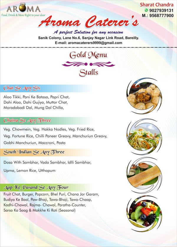 Gold Menu - Stalls  - by Aroma Caterers, Bareilly