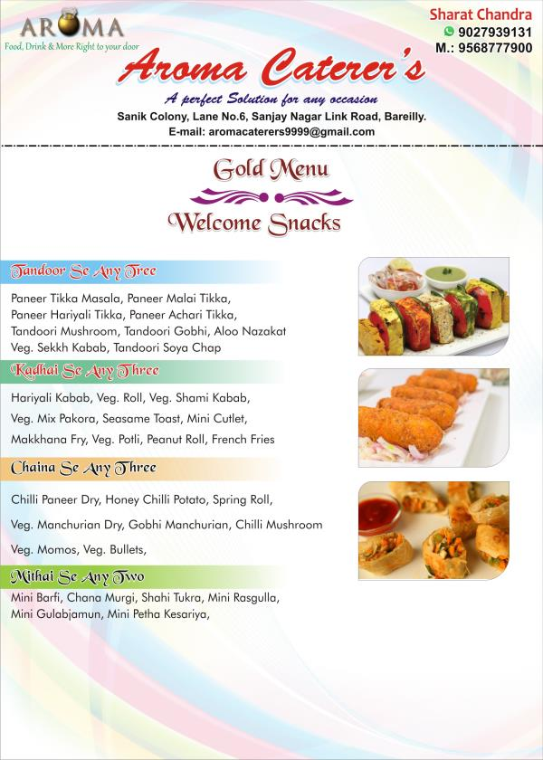Gold Menu - Welcome Snacks  - by Aroma Caterers, Bareilly