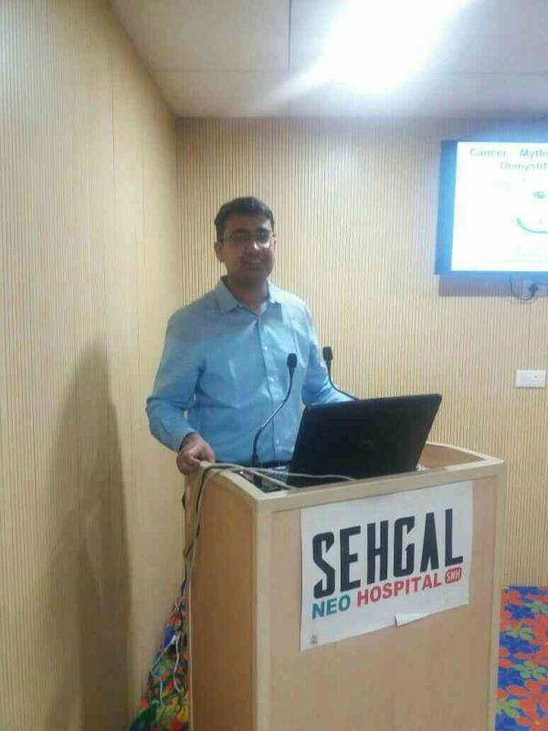 Cancer awareness talk by renowned cancer specialist in delhi ncr Dr sushant mittal  - by Best Cancer Doctors Team In Delhi NCR @ 9818930805, Gurgaon