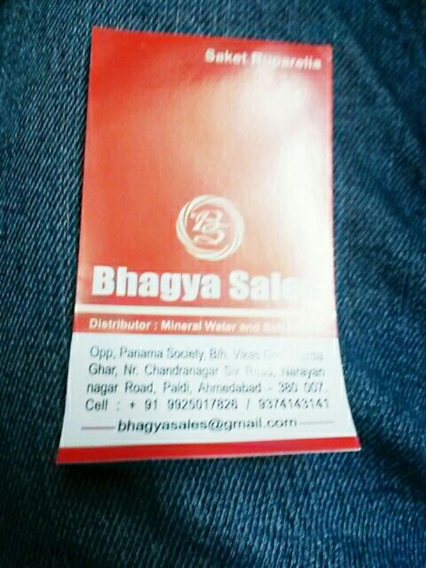 supplier of minerals water and soft drinks  - by Bhagya Sales, Ahmedabad