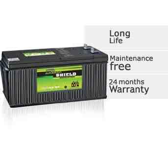 Ultra Low Maintenance Batteries Available :- 100, 135 & 150 AH  Features and Benefits       Long life - A robust plate design and a ribbed container make this the ideal long life battery for applications on rough terrain and under extreme c - by Bhoomi Enterprises, Davangere
