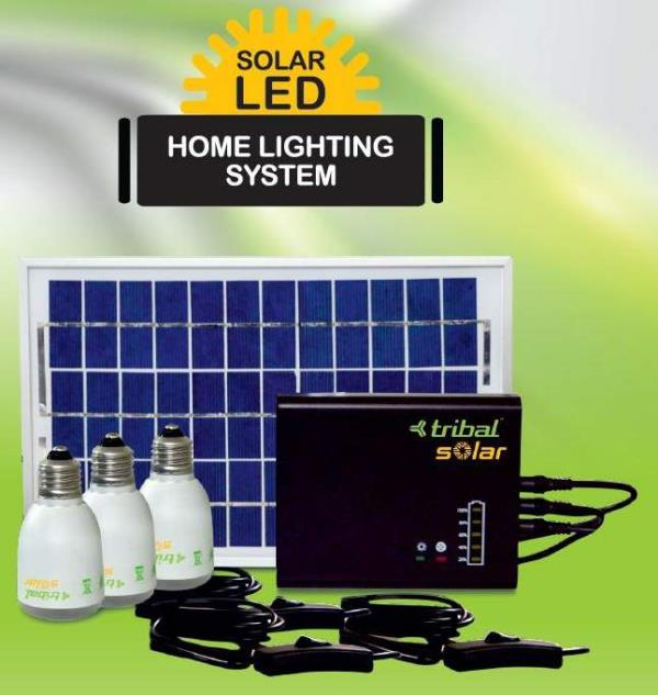 Solar LED Home Lighting System (SHLS) S.P :- 4650.00 Features and Benefits       Maximum Power Point Tracking technology (MPPT) for quick re-charging      Premium LED Light for long life, High illumination and Low power consumption      LED - by Bhoomi Enterprises, Davangere