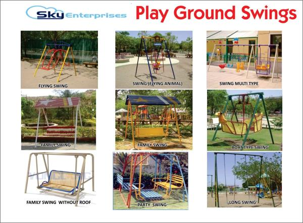 Playground Swings Manufacturers  - by Sky Enterprises, Nashik