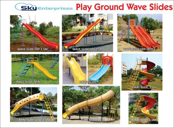 Playground Wave Slides - by Sky Enterprises, Nashik