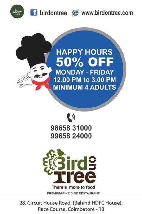 Bird on Tree is the Best Family Restaurant in Coimbatore.   For Like our Page:  https://www.facebook.com/birdontreerestaurant - by Bird On Tree, Coimbatore