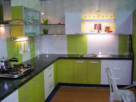 modular kitchen - by Akbar Home Construction, Udaipur