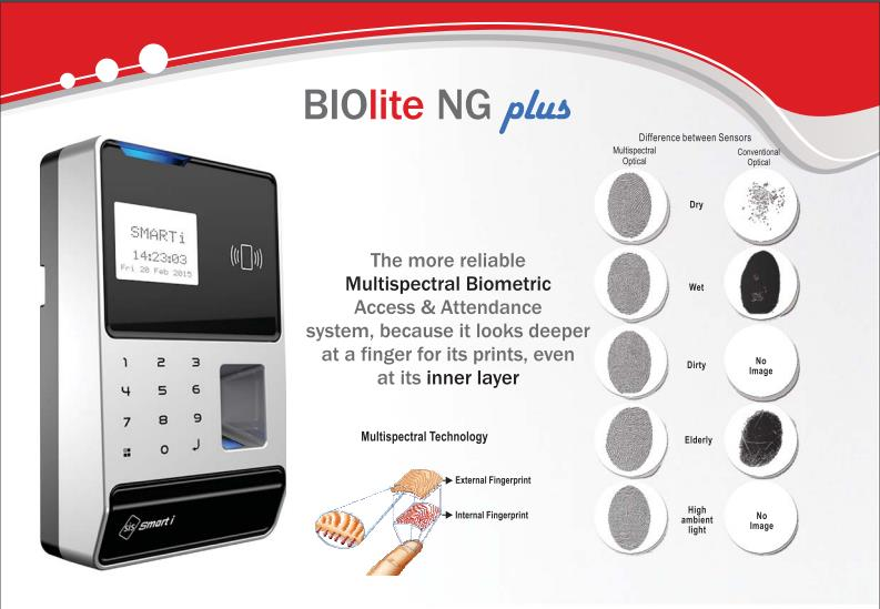 Smart i Time Attendance Machine with Multispectral Technology. - by Falcon Infosystem, Pune