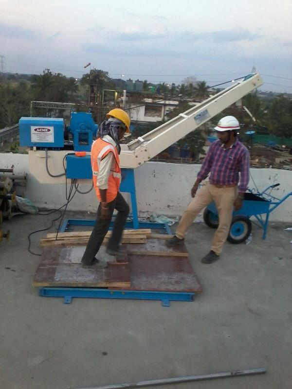 We supply Mini Lift 200 Kg and 500 Kg capacity for lifting raw material at construction sites.  It is very easy to install and easy to operate.  It has Electro Magnetic Brake and it is operated with Pendent Push Button system.  It comes wit - by Acme Concrete Mixers Pvt Ltd, Hyderabad