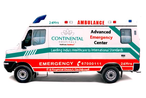 Vehicle Graphics to Continental Hospital done by Midas Touch Creations, We will  design and install graphics on any type of vehicle.  If you looking for Vehicle Graphics please call us or leave a message from make an enquiry - by Midas touch, Hyderabad