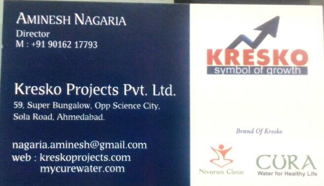 Plz contact for home care products like hand sanitizer, hand wash, cura added mineral water - by Kresko Projects Pvt Ltd, Ahmedabad