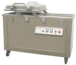 Model SNR 2556- Double chamber vacuum packing machine in chennai  ;- Vacuum packing machine (primary packing) is suitable for bigger size object packing and also suitable for packing Dry fruits, mushroom, paneer etc. As long as you press the vacuum case lid, the machine will automatically complete orderly the assumed processes of vacuum extraction, sealing, cooling and aeration. The packed products can be prevented from oxidation, going mould, insects of getting damp, thus can be kept in a prolonged storage period. It is available in 2 models.