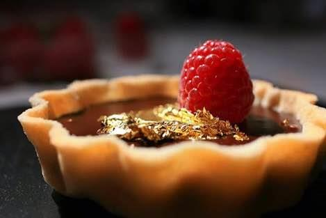 A layer of 24K edible Gold leaves is all you need to make your favorite desserts picture perfect.  We not only supply to India and abroad but also supply the best quality leaves. - by Shree Jagannathji Sterling Products, New Delhi