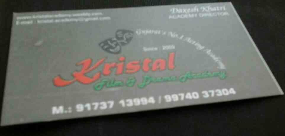 We are Gujarat's No 1 Acting Academy - by Kristal Film & Drama Academy, Ahmedabad
