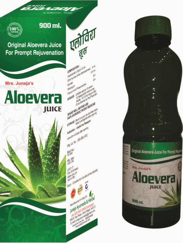 Made from Organic Aloevera Plant with Rich Aloevera pulp which gives you Litchi Flavour.  - by Juneja Herbals 9310104699, New Delhi
