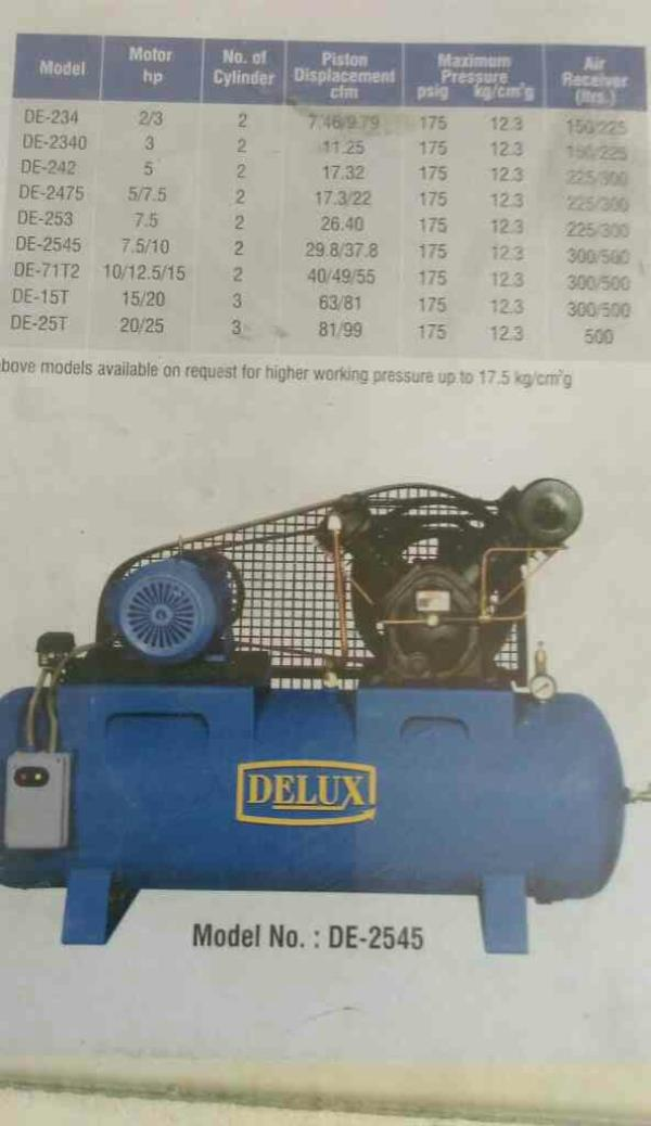 leading manufacturer of compressor in Gujarat - by Delux Engineering , Ahmedabad