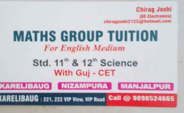If you are looking for maths coaching for class 11th and 12th in vadodara please contact us. - by Mathsgrouptuition, Vadodara