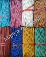 We are making Metallic Colour Raw Agarbatti. We have a different 8 type of colours in this segment. we r making various size of incense stick.  - by Manya Agarbatti, Ahmedabad