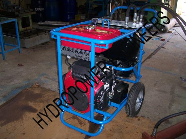 We are Hydropower Engineers , manufacture of Portable Hydraulic power packs with Petrol Engine driven suitable for using in remote location. We are in Bangalore can supply all over India and Abroad. Mobile hydraulic power pack to use in sit - by Hydropower Engineers, Bengaluru