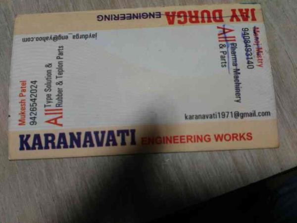 We are manufacturers of all type solution and Rubber & Teflon parts - by Karnavati Engineering Works, Ahmedabad