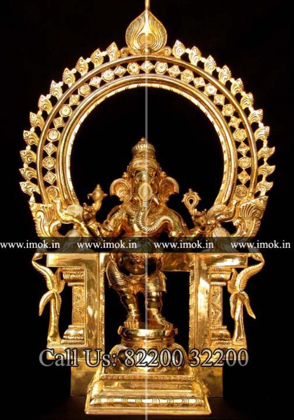 Panchalogam Ganesh Statue Manufacturers  For more info:  www.imok.in - by Cast In Bronze Creative, Kumbakonam