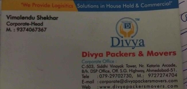 packers and movers in Ahmedabad  - by Divya Packers And Movers, Ahmedabad