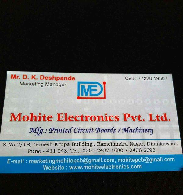 Pcb manufacturer in Pune  - by Mohite Electronics Pvt Ltd, Pune
