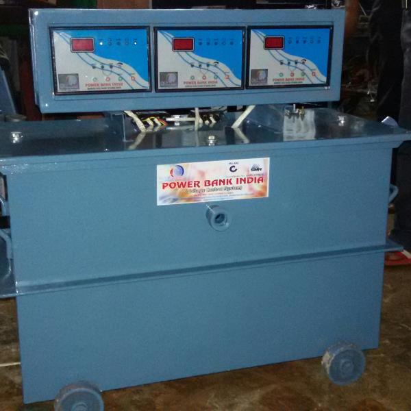 servo stabilizer oil cooled - by Power Bank India, New Delhi