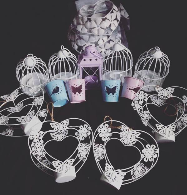 🆕 bird cages, butterfly heart frame and set of shabby chic Tealight holders. X   - by Jordie's Scented Soy Creations, Plymouth