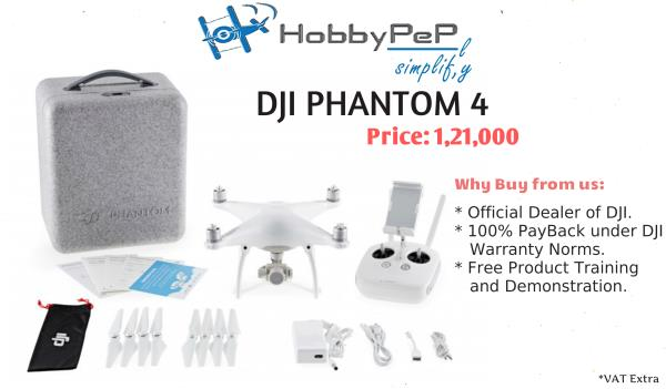 DJI PHANTOM 4  The Phantom 4 boasts sweeping curves, elegant lines and a polished shell that redefines the classic Phantom 4 shape. Its exquisite detailing and matt finish composite components add a level of finish and quality never seen be - by Hobby Pep | Best Drones Shop in India | 9505569998, Visakhapatnam