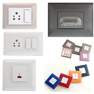 Modular Switches in Different Designs and Styles. Decorative Switches are also available according to the interior. - by Electrical Stores | Visakhapatnam, Visakhapatnam