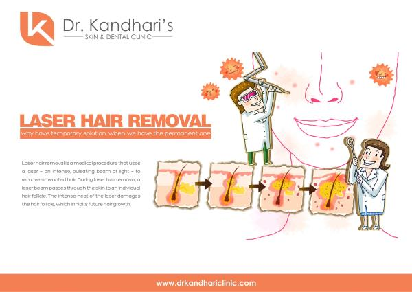 Tired of painful waxing, threading and razors.  Go SMOOTH with Painless Laser Hair Reduction   Attractive offers - Call us on 01146413705, 01146413714 or write into info@drkandhariclinic.com   Laser Hair Removal in Greater Kailash, Best Las - by Dr Kandhari's Skin & Dental Clinic, New Delhi