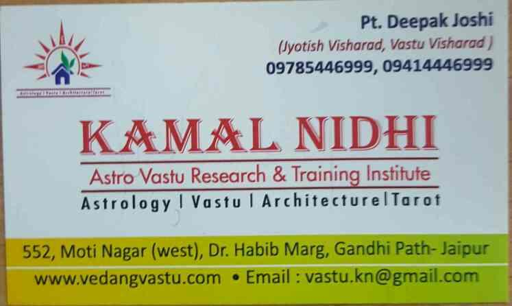 Consultant for  Astrology  - by Kamal Nidhi Astro Vastu Consultants, Jaipur