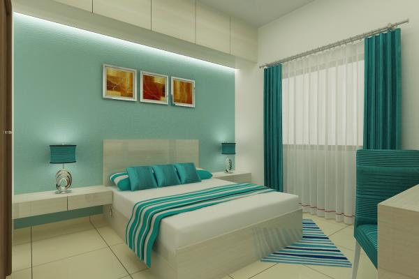 new bedroom model - by Shree Praveena Interiors, Chennai