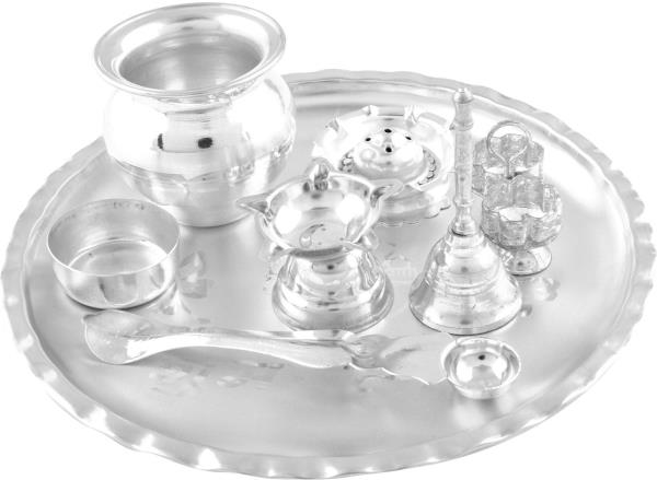 Silver Plated Pooja Set Supplier in bangalore  We Are Counted Among The Trustworthy Manufacturers And Suppliers Of An Extensive Range Of Silver Plated Pooja  and Gift articles. - by SAMBHAV PRODUCTS, Bangalore Karnataka