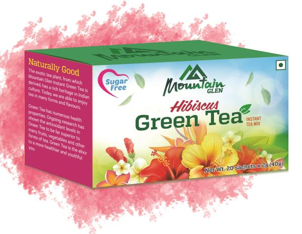 Mountain Glen Hibiscus Green Tea is a unique product that is being introduced in India for the first time. Our product offers high Antioxidant content from Green Tea as well as real Hibiscus flower.  To buy the product:  www.mtglen.com - by Mountain Glen, Coimbatore