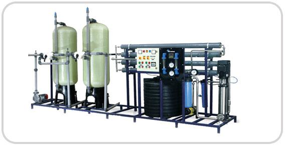 "Water Treatment plant:  The Reverse Osmosis process uses a semi-permeable membrane to separate and remove dissolved solids, organics, pyroxene, submicron colloidal matter, viruses, and bacteria from water. The process is called ""reverse"" os - by Unitech Water Technologies, Ahmedabad"