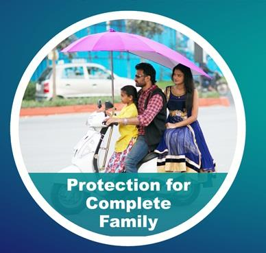 Two Wheeler Umbrella protects your complete family from Sun, Rain and UV Rays - by S S Marketing, Secunderabad