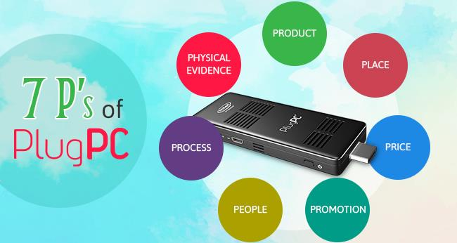 Plug PC's with 7 P's Concept    Product - Aesthetic Look  :  Incredible product with splendid aesthetics breaking all conventions is what is RDP PlugPC.  We have shrunken the PC from a Arm's Height to the length of your middle finger withou - by RDP, Mumbai