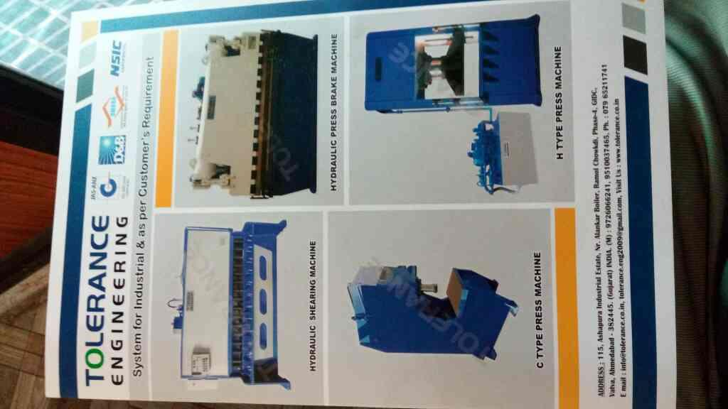 I supply all type Hydraulic shearing machine in Ahmedabad - by Tolerance, Ahmedabad