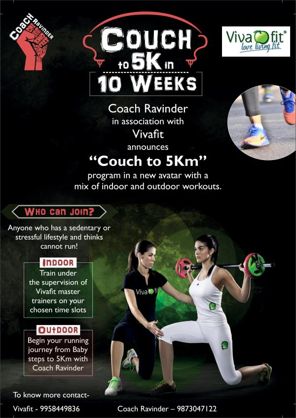 """Couch to 5 km in 10 weeks!"" Ijury Free running with #CoachRAvinder and #Vivafit Only for women.  Email manisha@vivafit.in or ravinder.singh09@gmail.com  #running #Gurgaon #womenonly fitness - by Vivafit, Gurgaon"