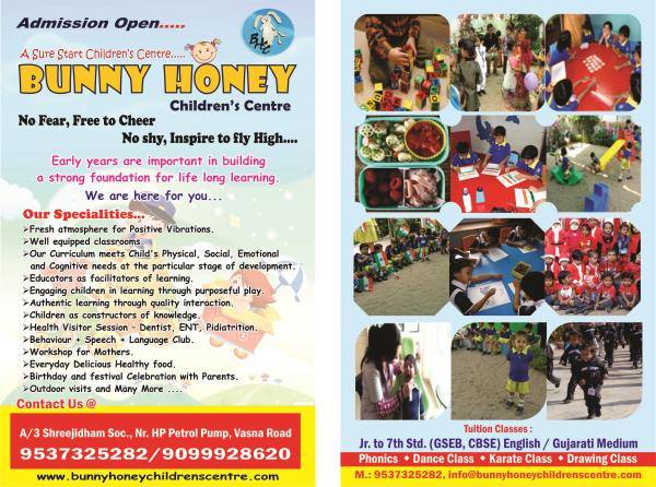 Facilities of BUNNY HONEY CHILDREN'S CENTRE VASANA VADODARA - by Bunny Honey Children's Centre, Vadodara