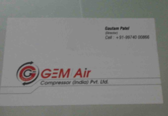 air compressor manufacturer in ahmedabad - by GEMAIRCOMPRESSORPVTLTD, Ahmedabad