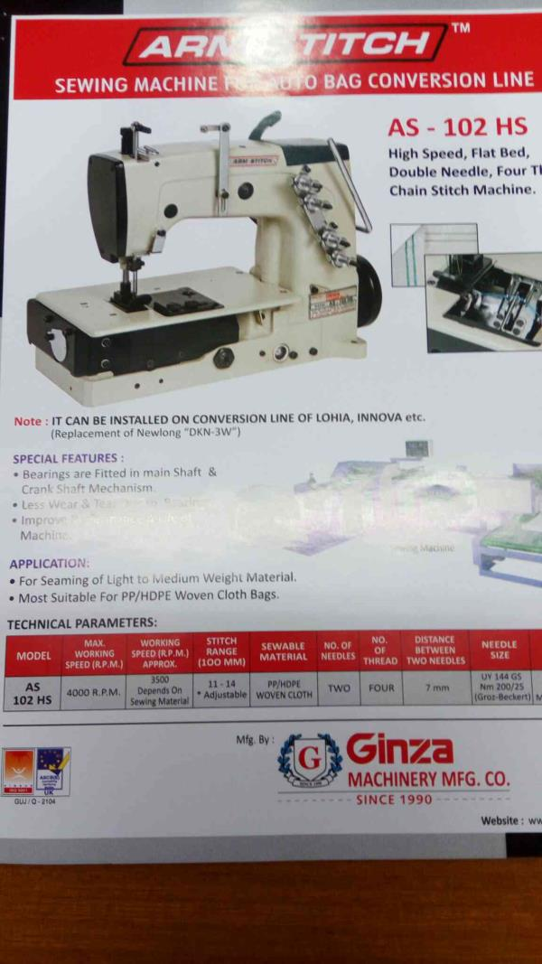 we are leading manufacturer for swing machine in ahmedabaf - by Ginza Machinery, Ahmedabad
