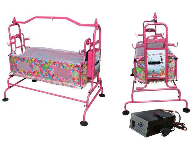 Automatic Baby Cradle is Manufacturing by Cosmo Engineering in Gujarat. Automatic Cradle is Operated with Battery so there is no need of Human near Cradles. Latest Technology used in our Cradles.
